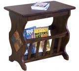 Rustic Santa Fe Magazine Table with Slate