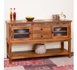 Rustic Oak & Slate 2-Drawer Server