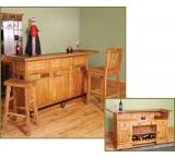 Rustic Oak & Slate 78 Serving Bar