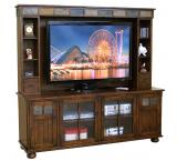 Rustic Santa Fe Complete Media Center