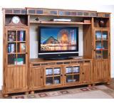 Rustic Oak & Slate Complete Entertainment Wall