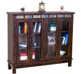 Rustic Santa Fe Bookcase Console with Doors