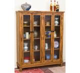 Rustic Oak & Slate 4-Door Bookcase