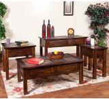 Rustic Santa Fe Slate Top Side Table