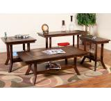 Rustic Santa Fe Slate Top Coffee Table w/Shelf