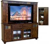 Rustic Santa Fe Complete Tall Media Center