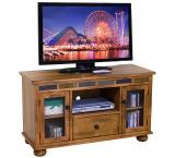 Rustic Oak & Slate TV Console with Gaming Drawer