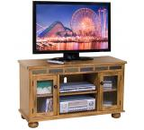 Rustic Oak & Slate Gaming TV Console