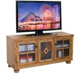 Rustic Oak & Slate TV Console with Combo Drawer