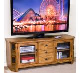 Rustic Oak 42 Raised TV Console