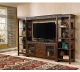 Rustic Santa Fe TV Console w/Game Drawer Only