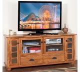 Rustic Oak & Slate 72 TV Console
