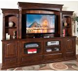 Rustic Santa Fe Complete Entertainment Wall