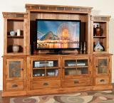 Rustic Oak & Slate 63 TV Console Only