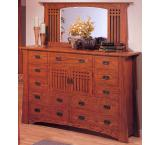 Rustic Mission Oak Grand Dresser