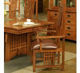 Rustic Mission Oak Arm Chair