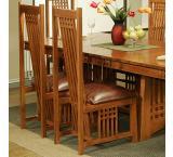 Rustic Mission Oak Side Chair
