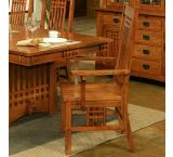 Rustic Mission Oak Brentwood Arm Chair