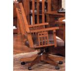 Rustic Mission Oak Office Arm Chair