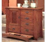 Rustic Mission Oak Butler Chest