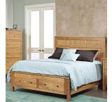 Solid Cherry Furniture Bed with Drawers