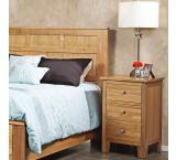 Solid Cherry Furniture 3-Drawer Nightstand