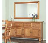 Solid Cherry Furniture 4-Door Sideboard