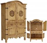 Texas Mexican Rustic Pine Armoire