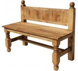 Large Lyon Mexican Rustic Pine Bench