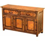 Mexican Copper Inlaid Francisco 3-Door Sideboard