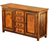 Mexican Copper Inlaid Francisco 2-Door Sideboard