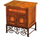 Mexican Copper Inlaid Emily Nightstand