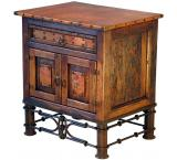 Mexican Copper Inlaid Pablo Nightstand