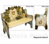 Mexican Rustic Magnolia Double Carved Bench