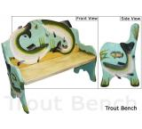 Mexican Rustic Trout Double Carved Bench