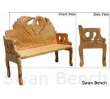 Mexican Rustic Swan Double Carved Bench