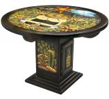 Mexican Rustic Round Siesta Dining Carved Table
