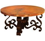 Mexican Copper Inlaid Patricia Coffee Table