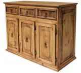 Medium Classic Mexican Rustic Pine Sideboard