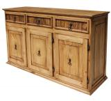 Large Classic Mexican Rustic Pine Sideboard