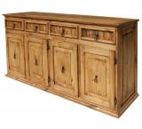 Extra Large Classic Mexican Rustic Pine Sideboard