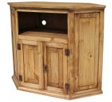Corner Mexican Rustic Pine TV Stand