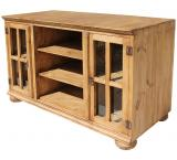 Andrea Mexican Rustic Pine TV Stand w/ Bunn Feet