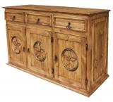 Large Texas Mexican Rustic Pine Sideboard