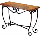 Mexican Copper Inlaid Pio Console Table
