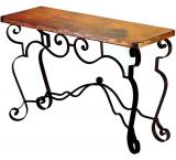 Mexican Copper Inlaid Libby Console Table