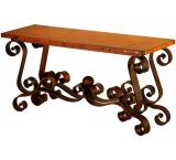Mexican Copper Inlaid Patricia Console Table