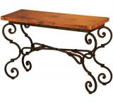Mexican Copper Inlaid Monica Console Table