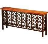 Mexican Copper Inlaid Elena Console Table