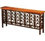 Mexican Copper Inlaid Elena Console Table